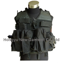 Exército / polícia preto militar equipamento tático colete (hy-v045)