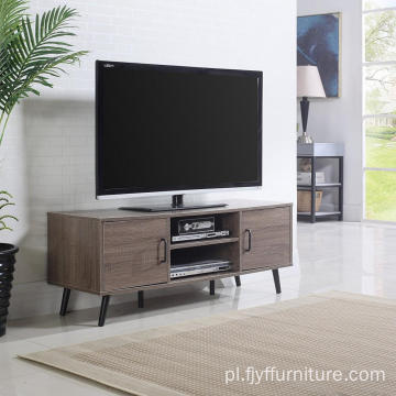 Dąb Rustic TV Stand Meble z solidnymi nogami
