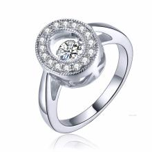 Neue Art und Weise 925 silberne Schmucksache-Tanzen-Diamant-Mikroeinstellung