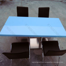 popular blue solid surface public dining tables
