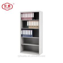 High quality open door four adjustable shelves steel bookcase cabinet