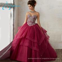 Beading Crystal Tiered Personaliza tu propio vestido Quinceanera