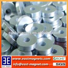 Ringform klein Zinkbeschichtetes Neodym-Magnet mit Loch zum Verkauf / N35 starker Magnet für Waschmaschine