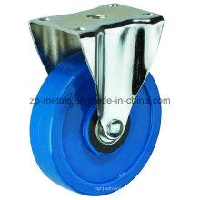 3inch Medium-Sized Biaxial Blue PVC Fixed Caster Wheels