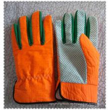 Orange Nylon Gartenhandschuhe für WerkzeughandlingJRG09