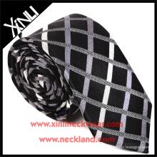 Tela barata da verificação do poliéster das gravatas por atacado dos homens da alta qualidade