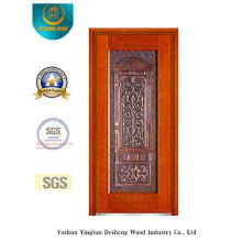 Porta de aço de segurança para exterior com arte de ferro (B-8009)