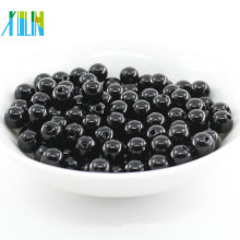 2018 New fashion black round faux machine plastic pearl beads