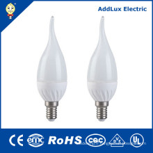220V AC Dimmable 3W E14 chaud blanc bougie LED