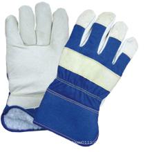 Pig Grain Leather Voll-Acryl Flor ausgekleidet Arbeit Handschuh-3514