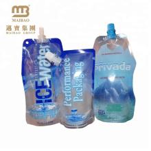 Las bolsas plásticas de encargo del agua potable del logotipo recargable plástico laminado con el canalón / la boca