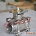 3 pc 1000wog 1/2 '' válvula de esfera de aço inoxidável
