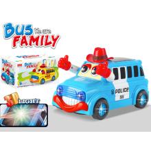 B / O autobús de plástico con 3D vehículo de juguete de luz (h6614047)