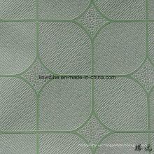 El vinilo de oro del color del precio bajo de la fábrica de China hizo frente al precio del tablero de techo del PVC