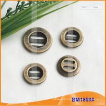 Bouton en alliage de zinc et bouton en métal et bouton de couture en métal BM1659
