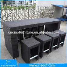 Ensemble de meubles de barre de bar en osier directement de grande durabilité