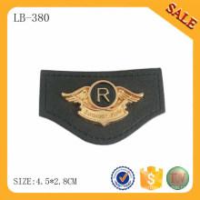 LB380 Real Custom Private Leather Label Patch / custom logo étuis en cuir