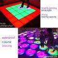 pista de dança de vídeo led portátil colorida