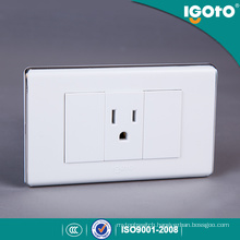 South American White Color 3 Pin Socket