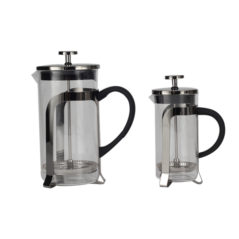 350ml 1000ml Glass Coffee French Press With Stainless Steel Frame