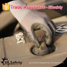 SRSAFETY 13 gauge knitted coated black nitrile safety glove/working safety gloves
