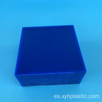 Engineering Plastics - Hoja de nylon fundido azul / beige de 50 mm