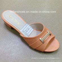 Новый стиль хорошее качество мода Женская обувь PU сандалии (JH160523-6)