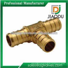 high quality china manufacture hot selling cw617n or cw614n copper forged tee fitting for pipes