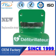 Metal Mounted AED Bracket With Strap