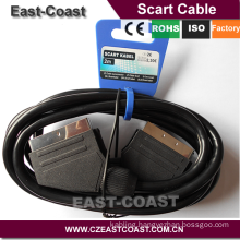 Germany Market REACH 21PINS SCART TO SCART CABLE, HIGH QUALITY