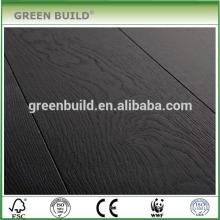sol stratifié en bois noir