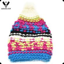 Colorido de moda caliente larga mano gruesa hecha Hat
