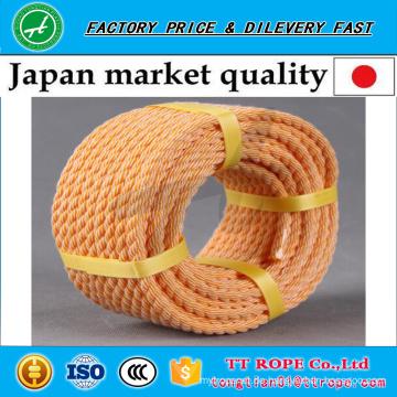 Orange Farbe 3 Stränge verdreht Kp-Seil für Japan-Markt