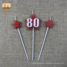 Special Nice Birthday Candles Numbers 80