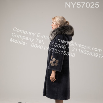 Austrália Merino Shearling Long Coat Para Lady