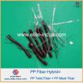 PP Polipropileno Hybrid Blend Macrofiber Twisted Bundle Fibra 54mm