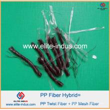 Macrofiber Polypropylene PP Twist Blend Mix Hybrid Fibrillated Fiber 54mm