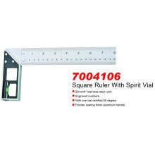 Square Ruler with Spirit Vial (7004106)