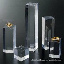 Rectangular Acrylic Cube Display/Acrylic Banner for Jewelry Presentation