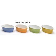 Cerâmica Oval Bakeware Set