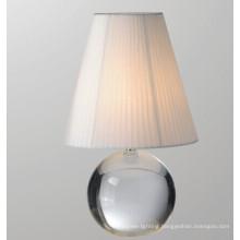 Fabric Shade Glass Modern Table Lamp