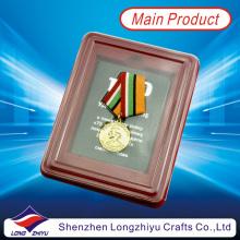 Kundenspezifische Armee-Medaille Militärmedaillon mit Plastikbox (lzy00106)