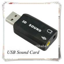 Boa qualidade USB 3.0 EXTERNAL SOUND CARD 3D 5.1 ADAPTADOR AUDIO para PC
