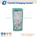 Venda quente embalagem de alimentos stand up saco zipper pe saco saco de plástico transparente