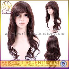 For African Cheap German Virgin Remy Human Long Black Hair Wig