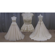Lace Wedding Dresses Plus Size Champagne