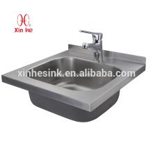 Handels-Edelstahl-Handwaschbecken, Wand-Hung-Edelstahl-Handwaschbecken für Schule