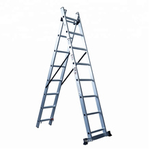 3 section aluminium extension ladder a type ladder