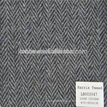 Tecido de espinha de peixe de lã para casaco de homens e mulheres