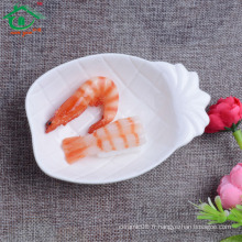 Fournisseur de porcelaine Haute qualité sushi ananas forme plat en céramique de différentes tailles, formes et couleurs, OEM également disponible